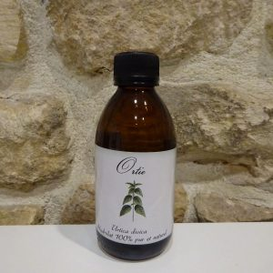 hydrolat d'ortie bio petit producteur Ardèche Herboristerie des mille feuilles