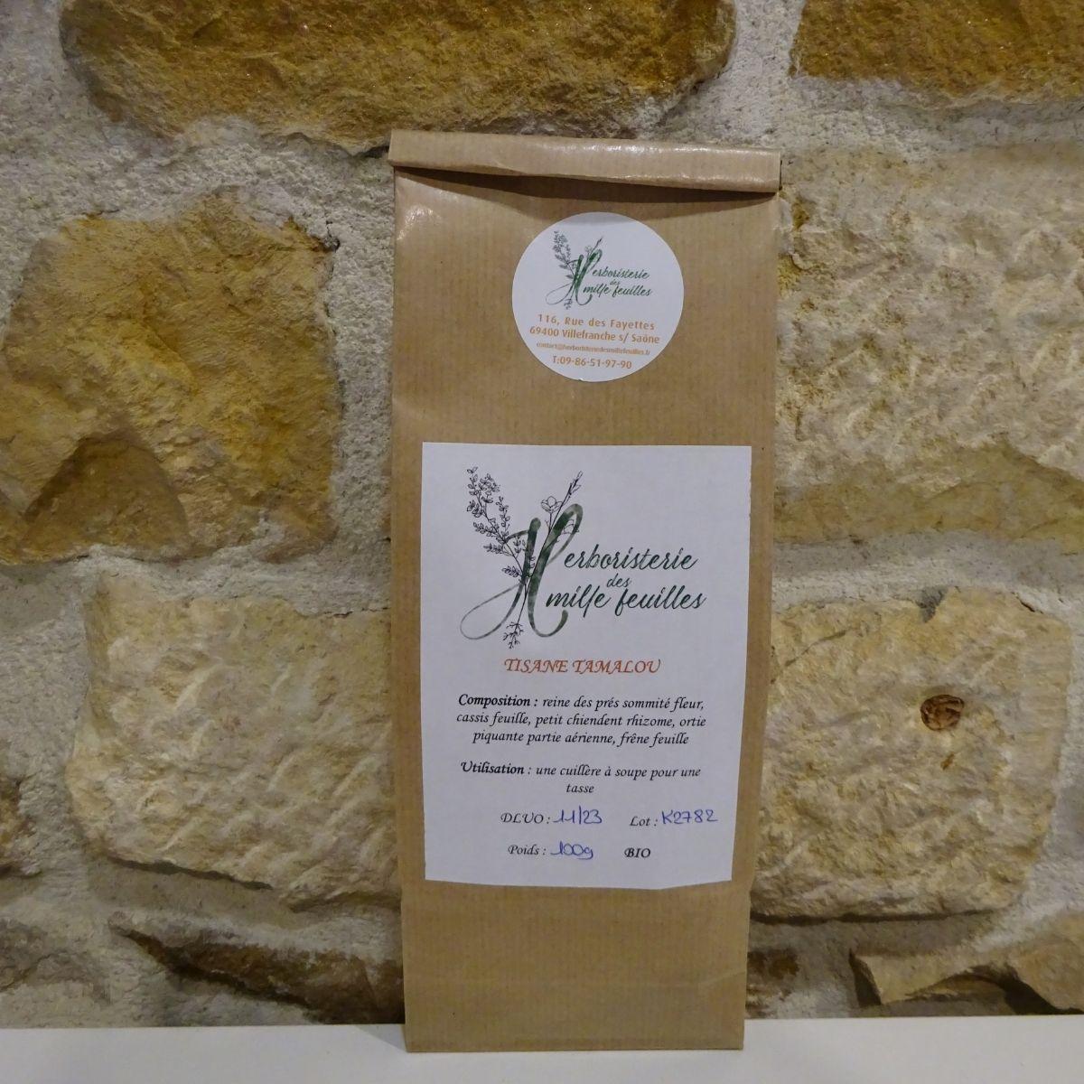 tisane mélange bio tamalou herboristerie des mille feuilles