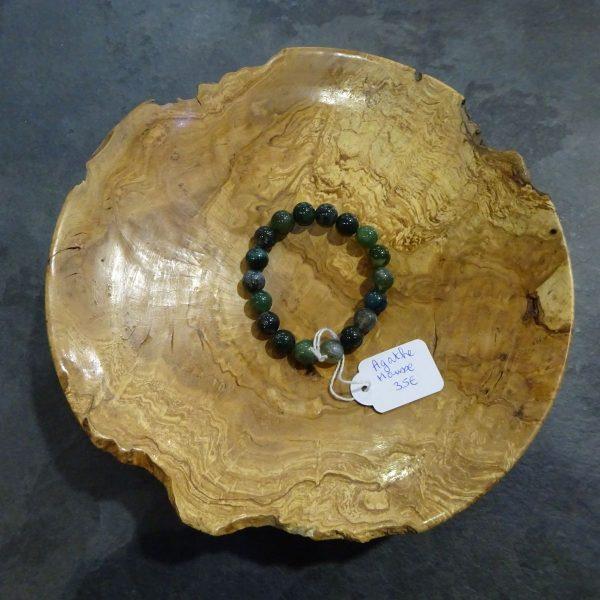 Bracelet Agathe mousse grosses perles Herboristerie des mille feuilles