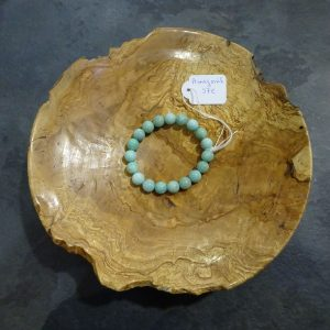 Bracelet Amazonite grosses perles Herboristerie des mille feuilles