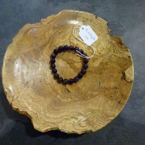 Bracelet Améthyste grosses perles Herboristerie des mille feuilles