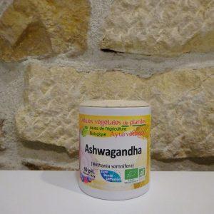 Gélules d'Ashwagandha bio Herboristerie des mille feuilles