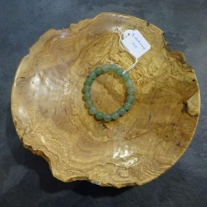 Bracelet Aventurine verte grosses perles Herboristerie des mille feuilles