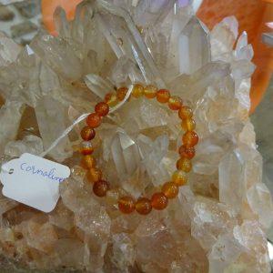 Bracelet Cornaline Herboristerie des mille feuilles