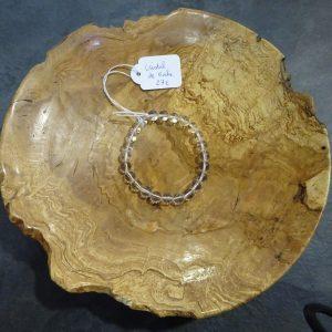 Bracelet Cristal de roche Herboristerie des mille feuilles