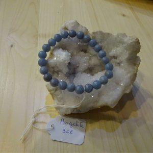 Bracelet en pierre Angélite - Herboristerie des mille feuilles