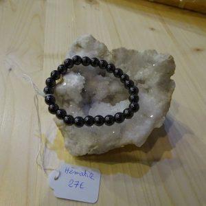 bracelet en pierre Hématite - Herboristerie des mille feuilles