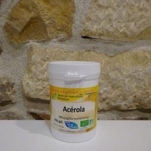 Acerola bio 250 gélules Herboristerie des mille feuilles