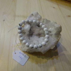 Bracelet en pierre Howlite - Herboristerie des mille feuilles