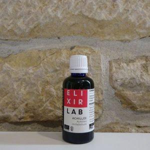 Macérât huileux d'Achillée millefeuilles bio. Elixirlab & Herboristerie des mille feuilles.