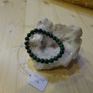 bracelet en pierre Malachite - Herboristerie des mille feuilles