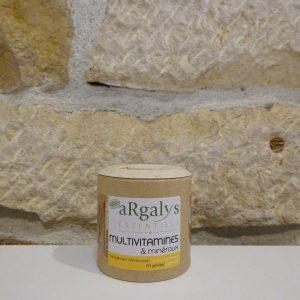 Multi vitamines et minéraux 60 gélules Argalys essentiels - Herboristerie des mille feuilles