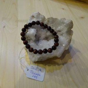 Bracelet en pierre Oeil de taureau - Herboristerie des mille feuilles
