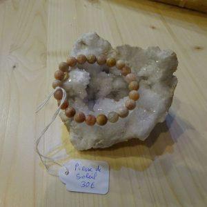 Bracelet en Pierre de soleil - Herboristerie des mille feuilles