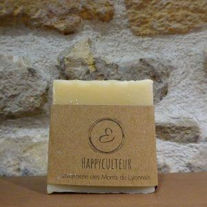 Savon au miel Happyculteur - Savonnerie Elise Monts du lyonnais - Herboristerie des mille feuilles