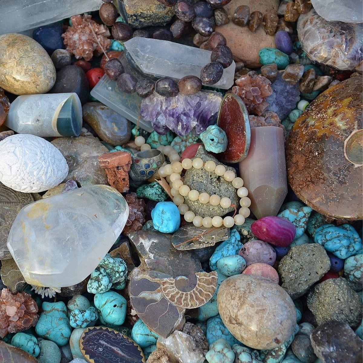 bracelets en pierres Herboristerie des mille feuilles lithothérapie