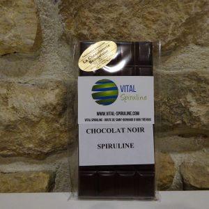 Chocolat noir à la spiruline de Trévoux Chocolaterie beaujolaise - Herboristerie des mille feuilles