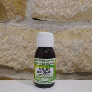 Extrait fluide glycériné miellé de Mélisse bio. Herboristerie des mille feuilles