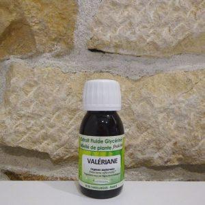 Extrait fluide glycériné miellé de Valériane bio. Herboristerie des mille feuilles