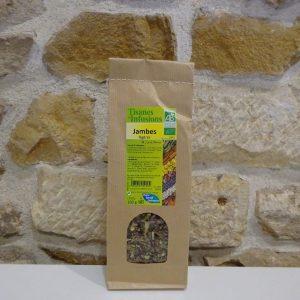 Tisane jambes légères bio en sachet de 100g. Herboristerie des mille feuilles