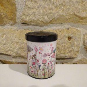 Boite washi empilable motif fleurs. Herboristerie des mille feuilles