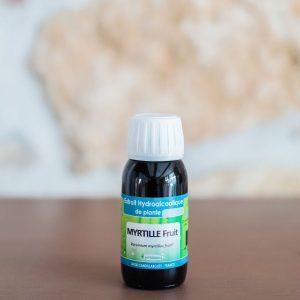 Extrait hydroalcoolique de Myrtille (fruit) bio. Herboristerie des mille feuilles