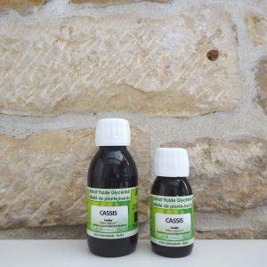 Extrait fluide glycériné miellé de Cassis bio. Disponible en flacon de 60ml et 125 ml. Herboristerie des mille feuilles