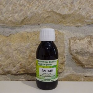 extrait fluide glycériné miellé bio de Gattilier en 125ml. Herboristerie des mille feuilles