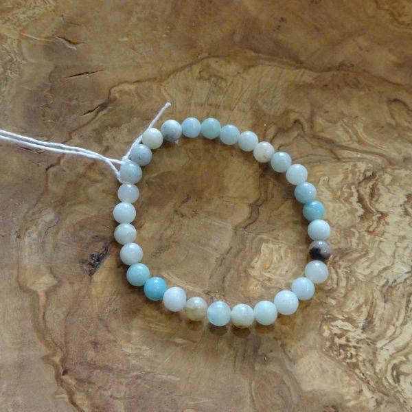 Amazonite multicolore petites perles de 6 mm. Herboristerie des mille feuilles