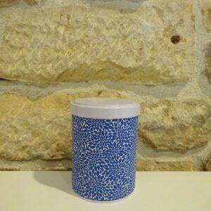 Boite à thé washi empilable 100g, avec double couvercle. Herboristerie des mille feuilles