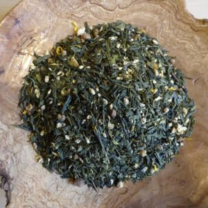 Thé vert bio Gingembre ananas Herboristerie des mille feuilles