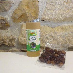 Gommes bio à la propolis, sachet de 50g. Herboristerie des mille feuilles